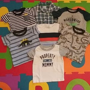 7pc Boy's T-Shirt Variety Bundle